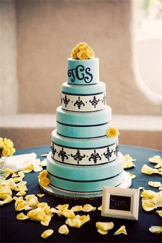 Turquoise And Yellow Wedding Cakes  17 Best images about Color bo turquoise and black on