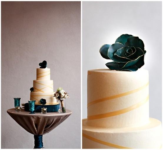 Turquoise And Yellow Wedding Cakes  Wedding Cake turquoise and yellow by the Arizona Cake