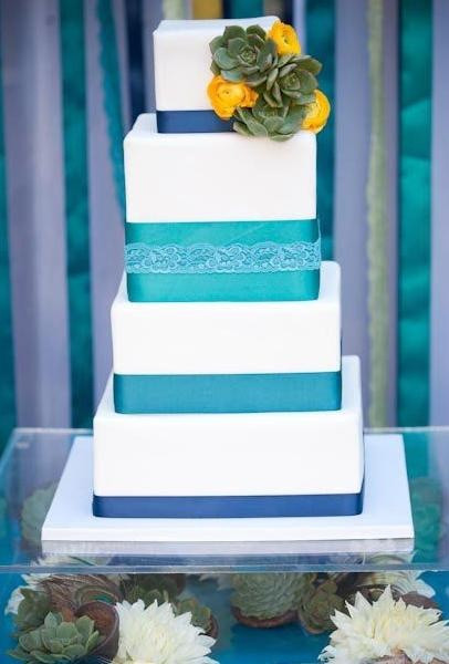 Turquoise And Yellow Wedding Cakes  24 best images about Turquoise and Yellow Wedding on