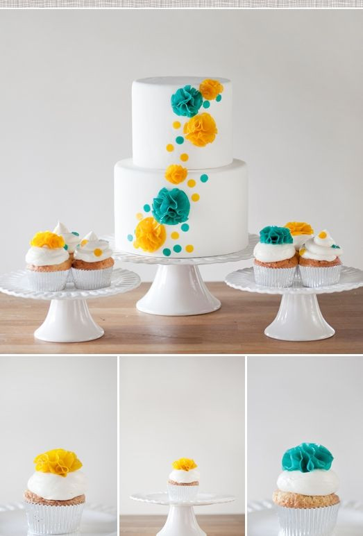 Turquoise And Yellow Wedding Cakes  25 best ideas about Turquoise wedding cakes on Pinterest