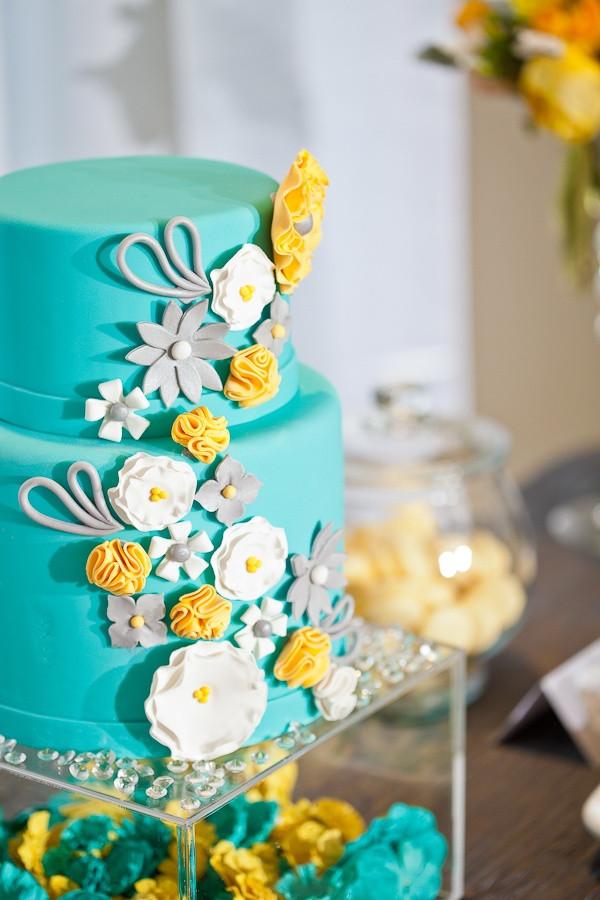 Turquoise And Yellow Wedding Cakes  Your Wedding in Colors Aqua and Yellow Arabia Weddings