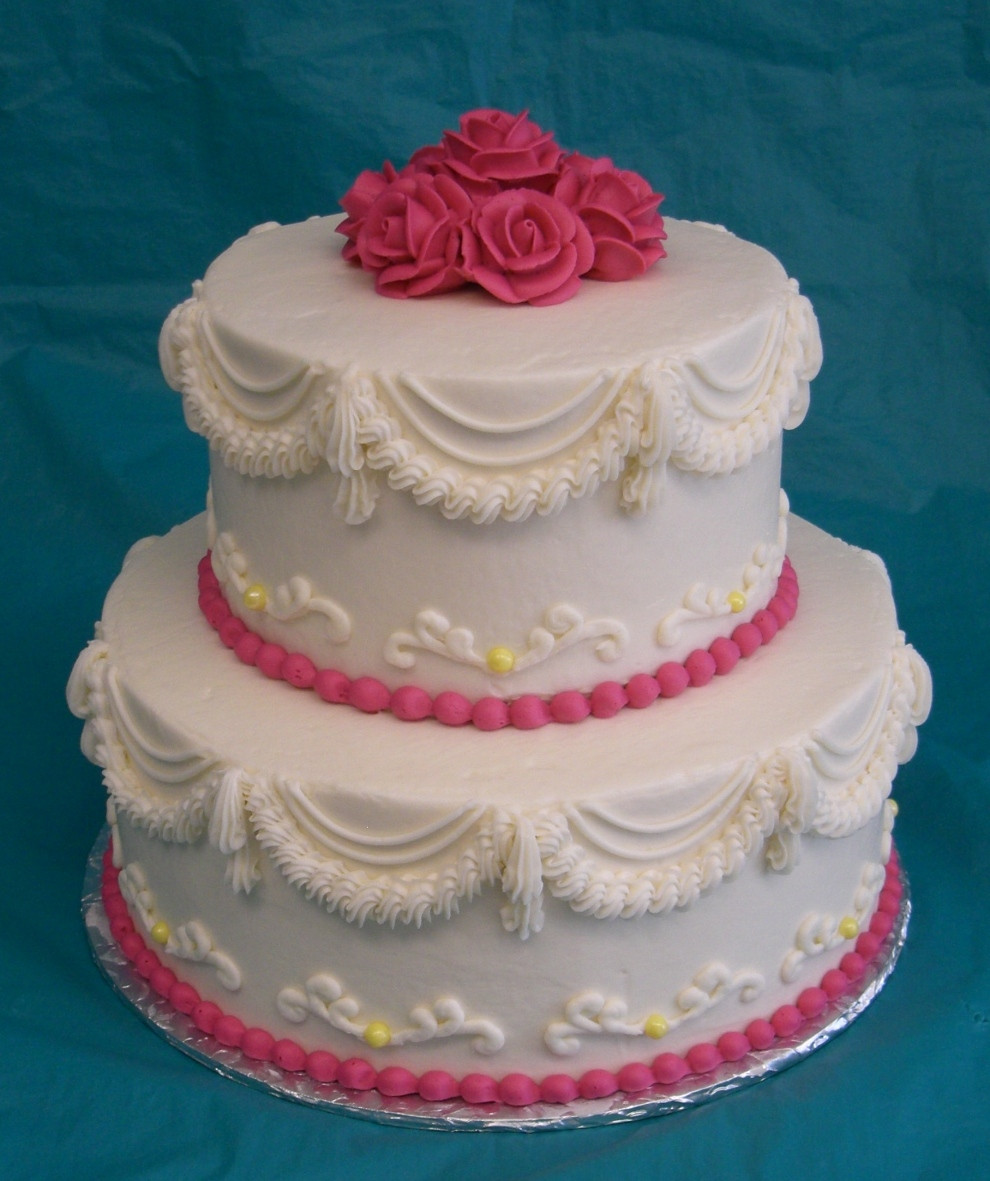 Two Layered Wedding Cakes  Two layer wedding cakes idea in 2017