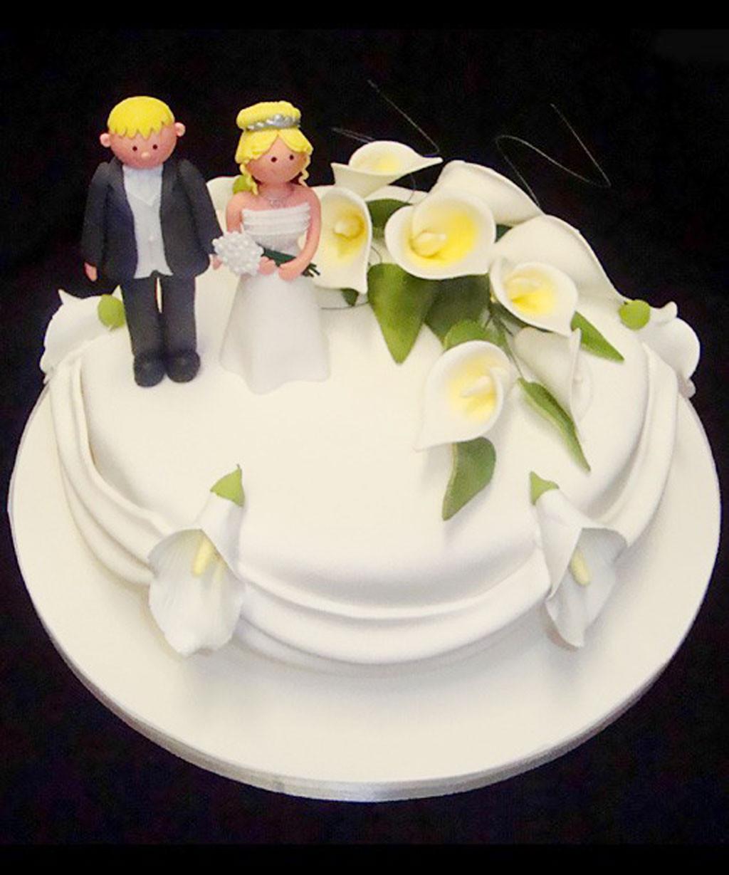 Two Layered Wedding Cakes  Single Layer Wedding Cake 2 Wedding Cake Cake