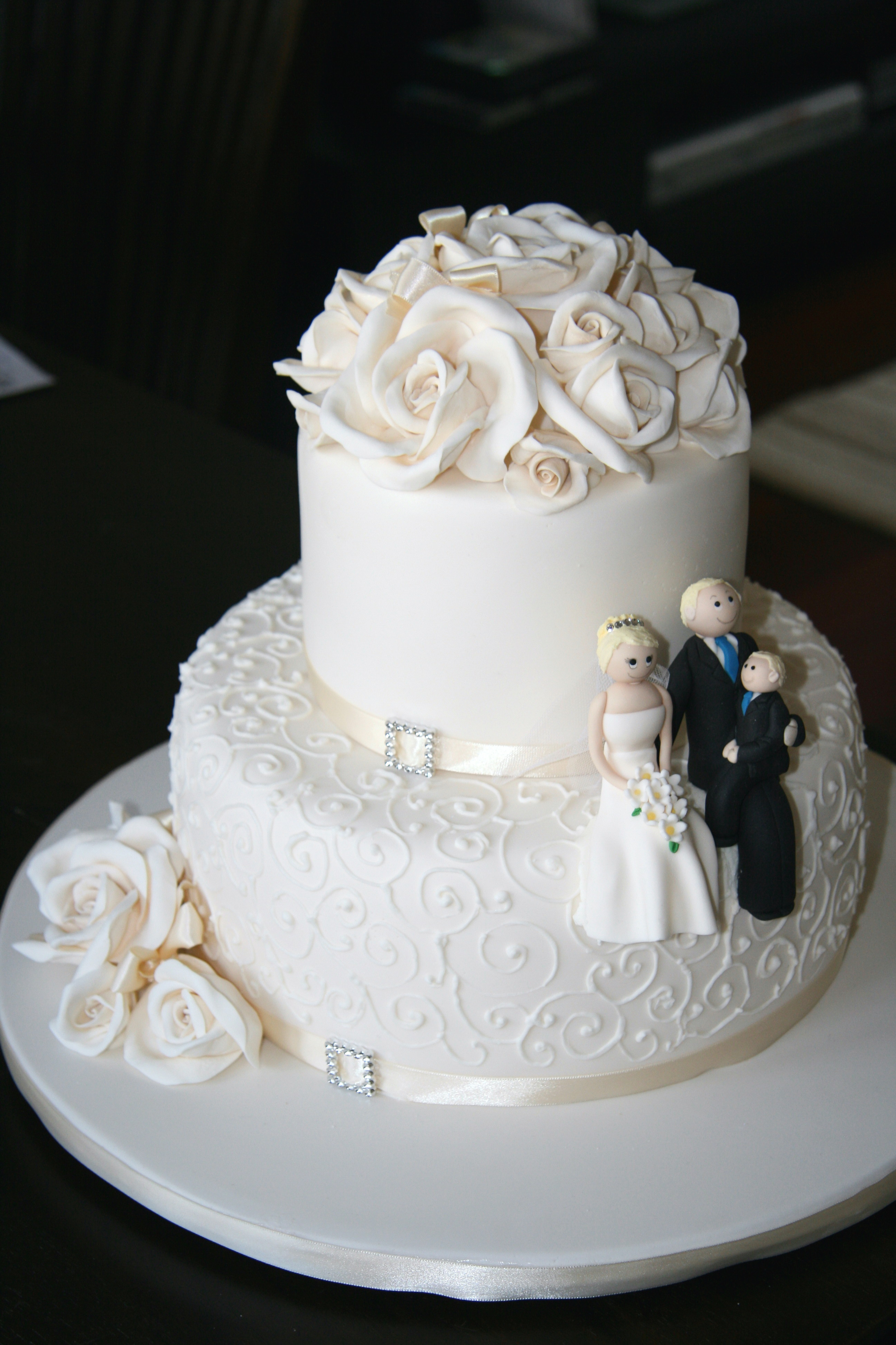 Two Layered Wedding Cakes  Two layer wedding cake idea in 2017