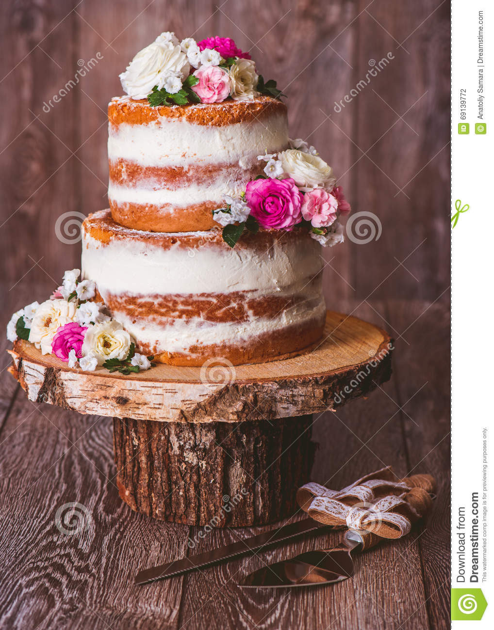 Two Layered Wedding Cakes  Two layered wedding cake stock photo Image of decorated