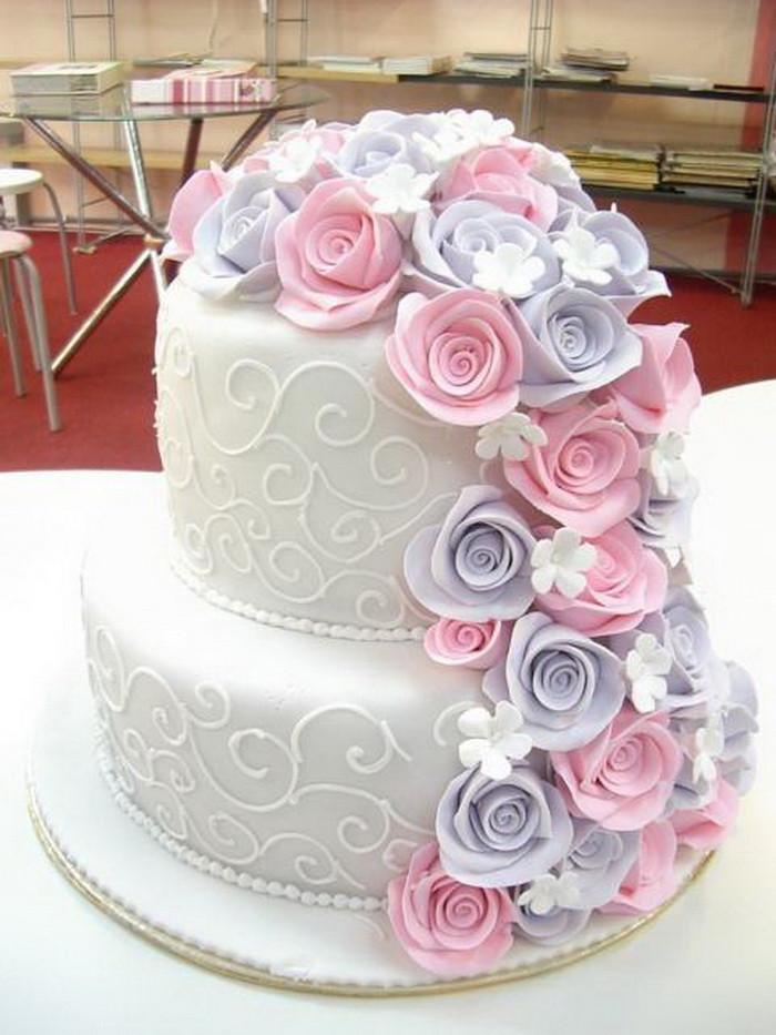 Two Layered Wedding Cakes  Wedding Cake Two Layer