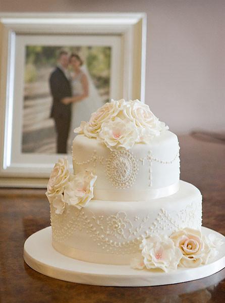 Two Tier Wedding Cakes  Celebration & Wedding Cakes By Sarah Louise Hampshire