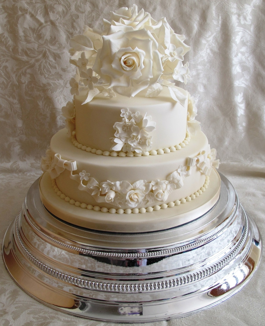 Two Tier Wedding Cakes  Vintage 2 Tier Wedding Cake CakeCentral
