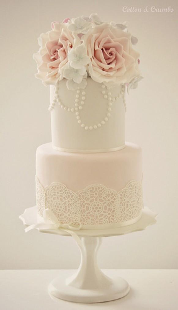 Two Tier Wedding Cakes  Wedding Cakes Two Tier Cake Weddbook