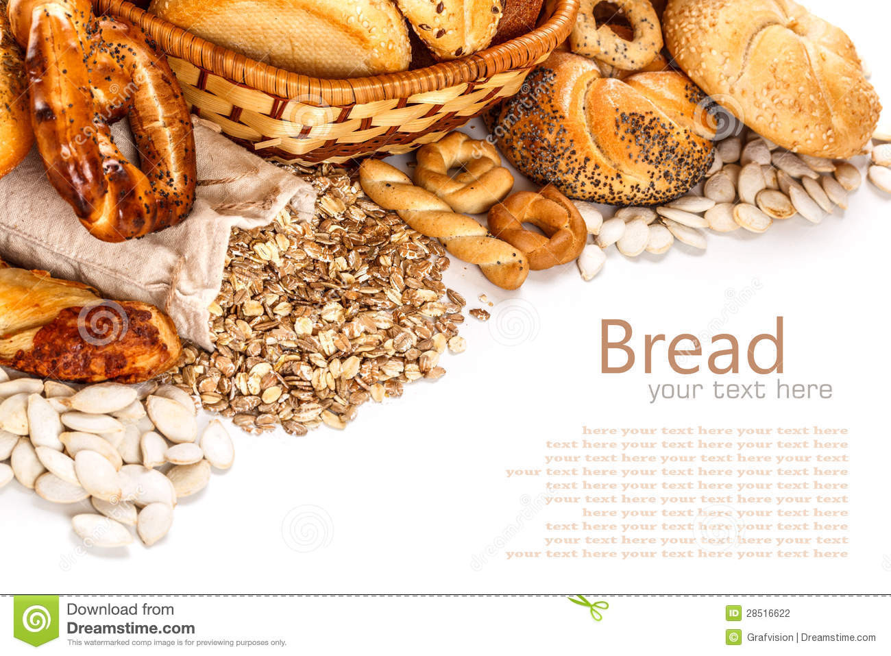 Types Of Healthy Bread  Different Types Bread Stock graphy Image