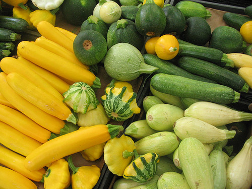 Types Of Summer Squash  paring the Nutrient Values of Four Summer Squashes
