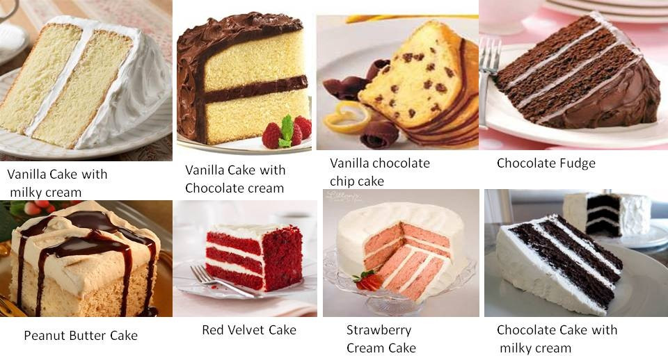 Types Of Wedding Cakes Flavors  Different Flavors Cake Cake Ideas
