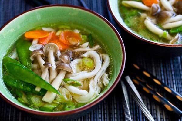 Udon Noodles Healthy  15 Minute Udon Miso Noodle Soup Steamy Kitchen Recipes