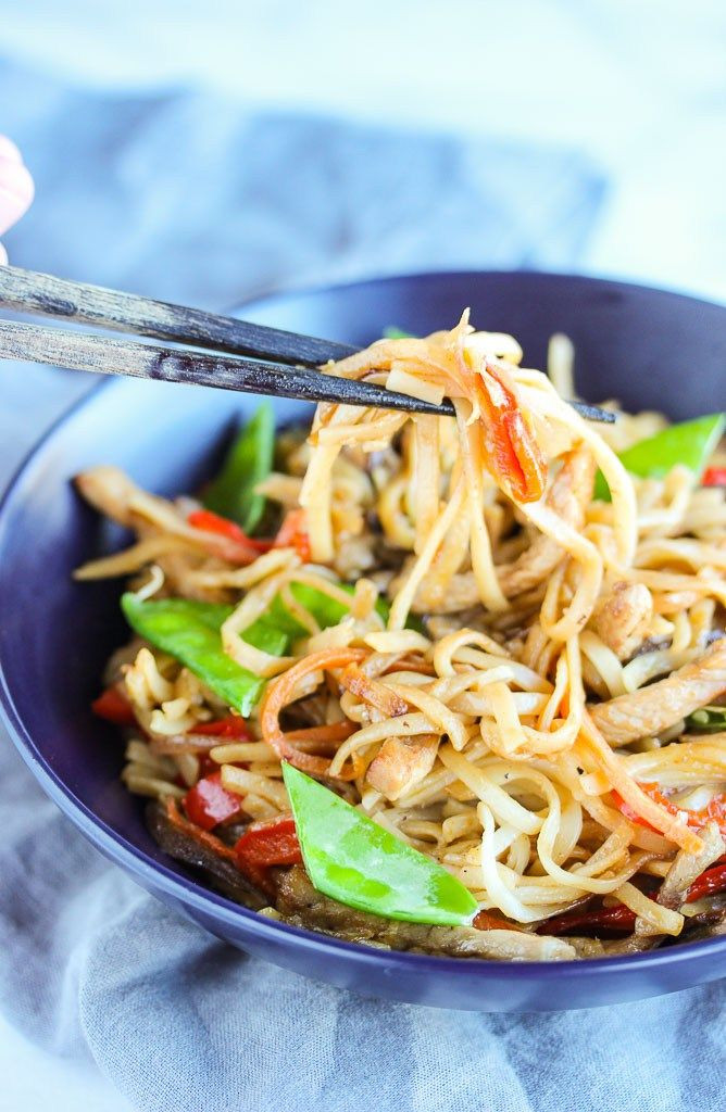 Udon Noodles Healthy  Pork Udon Noodle Stir Fry is quick easy and healthy