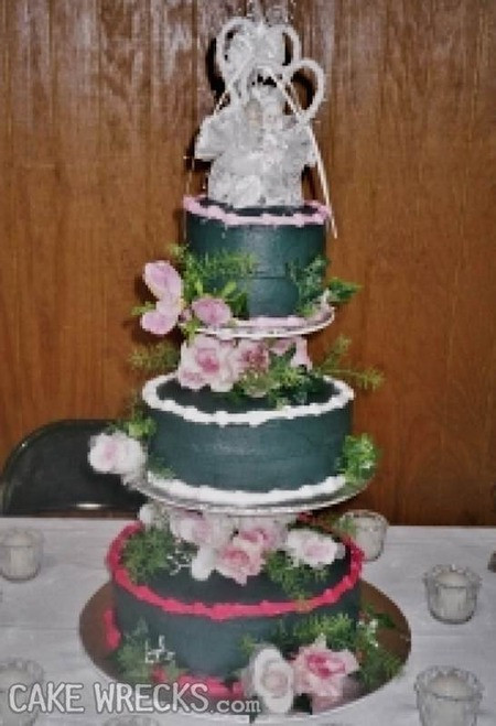 Ugliest Wedding Cakes  Cake Wrecks Home 7 Seriously Ugly Wedding Cakes To