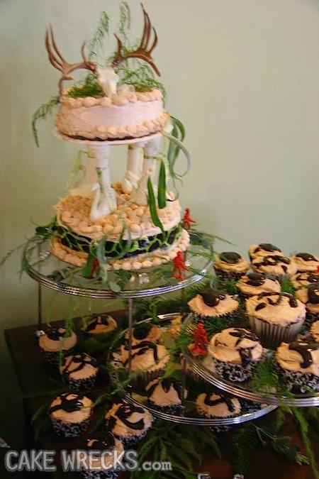 Ugly Wedding Cakes  Cake Wrecks Home 7 Seriously Ugly Wedding Cakes To