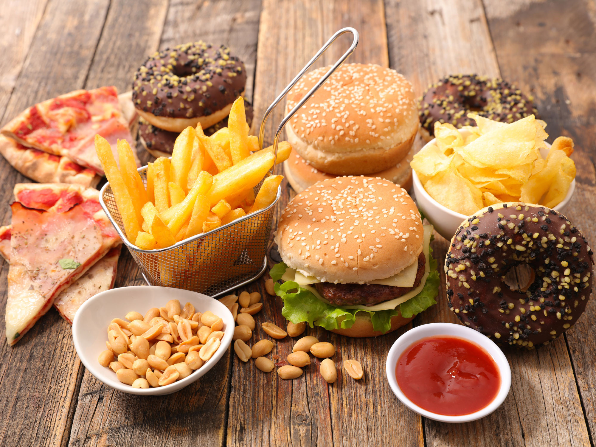 Un Healthy Snacks  Fast food as bad for you as a bacterial infection Easy