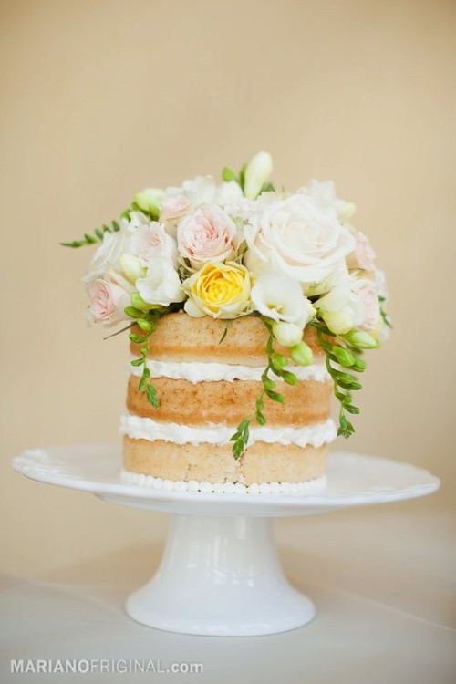 Unfrosted Wedding Cakes  Pretty Little Things In the Details Unfrosted Cakes