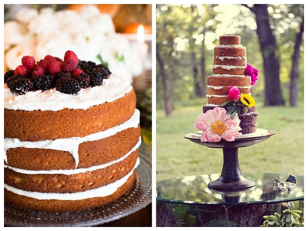 Unfrosted Wedding Cakes  postcards and pretties good eats unfrosted wedding cakes