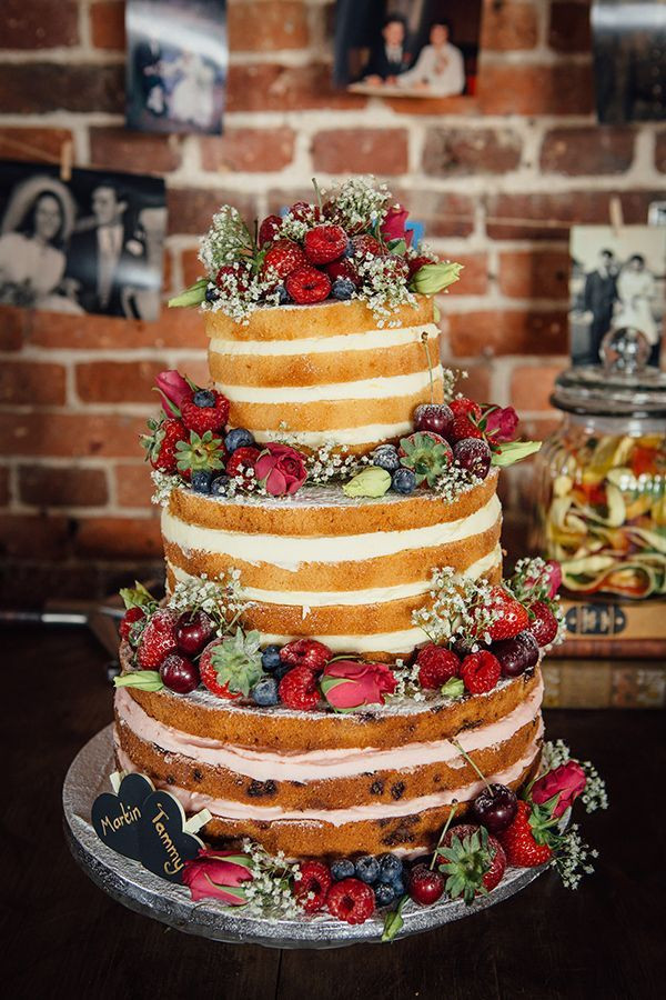 Unfrosted Wedding Cakes  10 Stunning Unfrosted Wedding Cakes