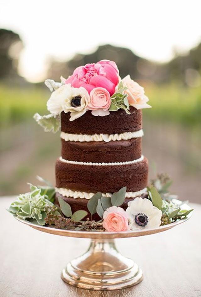 Unfrosted Wedding Cakes  Cake Unfrosted Wedding Cakes Weddbook