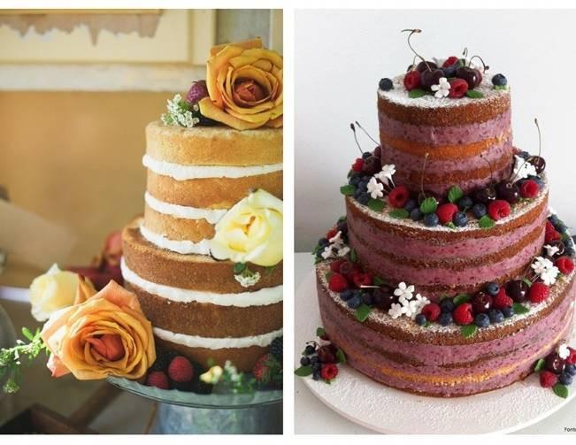 Unfrosted Wedding Cakes  Dessert Au Naturel Unfrosted Wedding Cakes