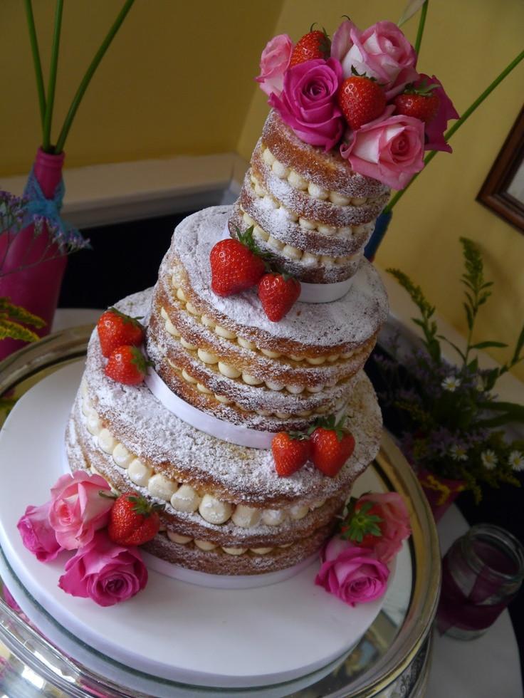 Unfrosted Wedding Cakes  Unfrosted wedding cake Cakes