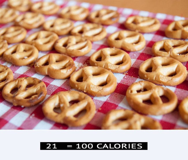 Unsalted Pretzels Healthy  This is what 100 Calories of Healthy Food looks like