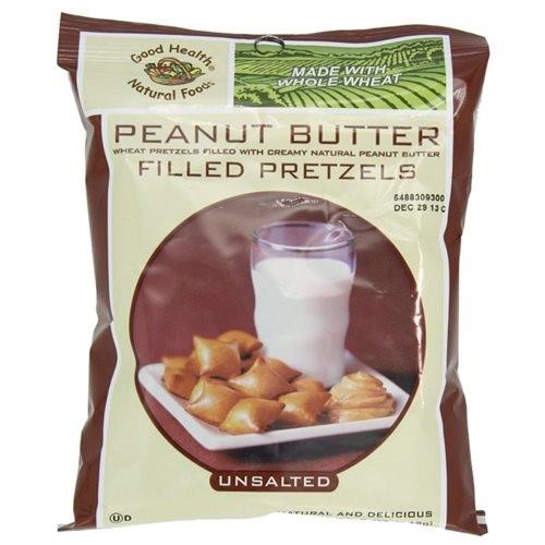 Unsalted Pretzels Healthy  Good Health Peanut Butter Pretzels Unsalted 5 Ounce Bags