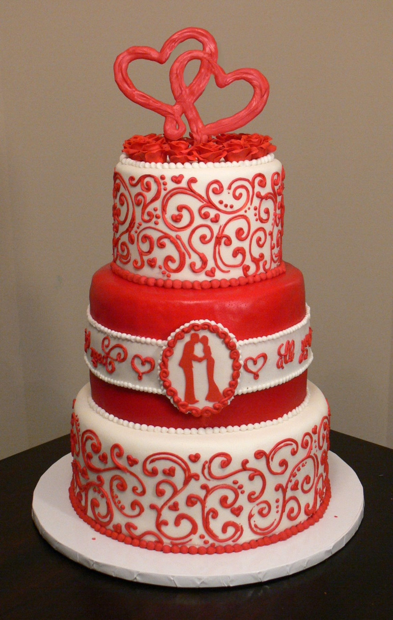 Valentine Wedding Cakes  Valentine's Day Wedding Cakes