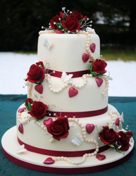 Valentine Wedding Cakes  Wedding Ideas Valentine s Wedding