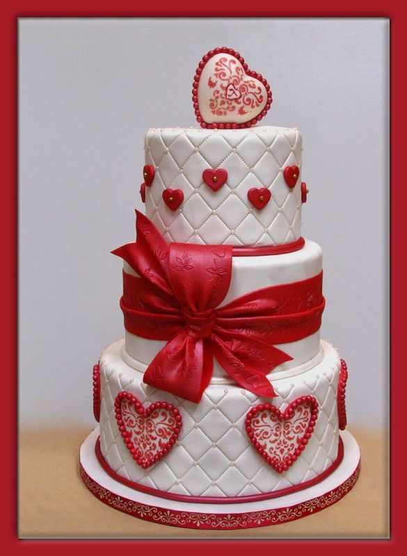 Valentine Wedding Cakes  Eye Candy Valentine Wedding Cakes Reception Project