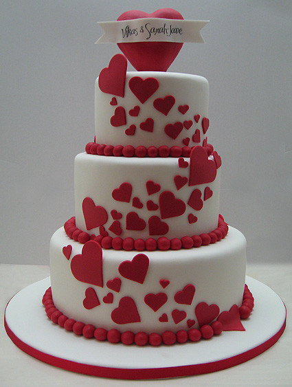 Valentine Wedding Cakes  Love Wedding Cakes To Valentine s Day