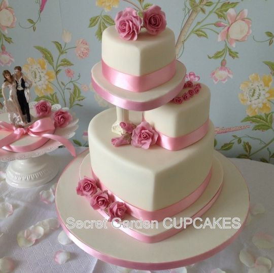 Valentine Wedding Cakes  Valentine s Day Wedding Cake Cake by Siyana Sibson