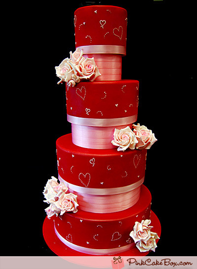 Valentines Wedding Cakes  Valentine's Day Wedding Cakes