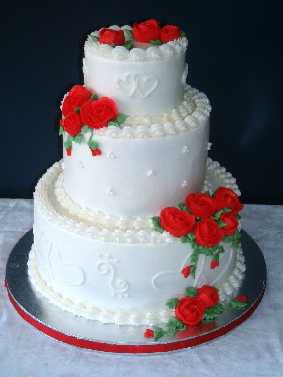 Valentines Wedding Cakes  Valentine s Day Wedding Cake CakeCentral