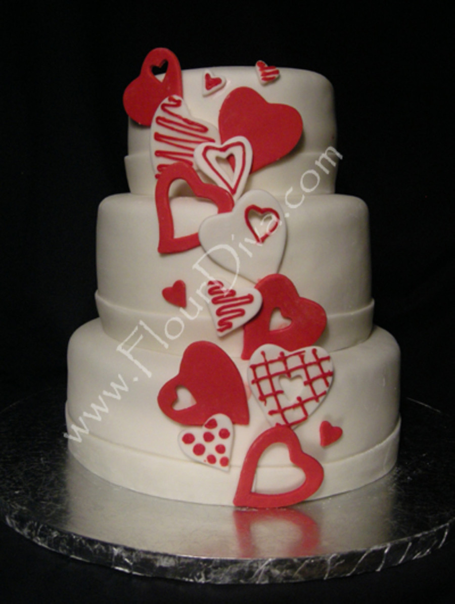 Valentines Wedding Cakes  Valentines Day Wedding Cake CakeCentral