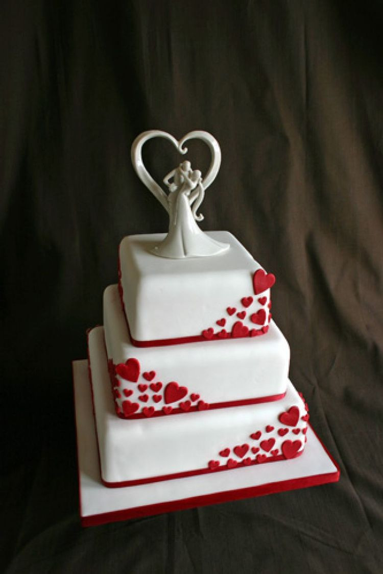 Valentines Wedding Cakes  Valentines day Wedding cake