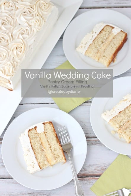 Vanilla Wedding Cake Recipes  Vanilla Wedding Cake