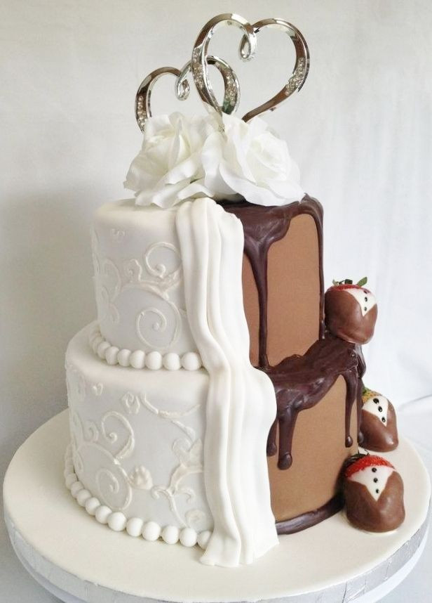 Vanilla Wedding Cakes  Chocolate And Vanilla Wedding Cake