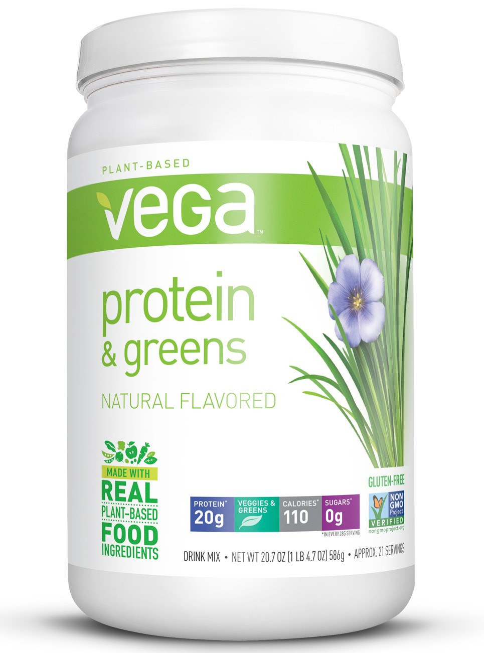 Vega Organic Protein And Greens  Vega Protein & Greens Powder Natural 1 29 Lb