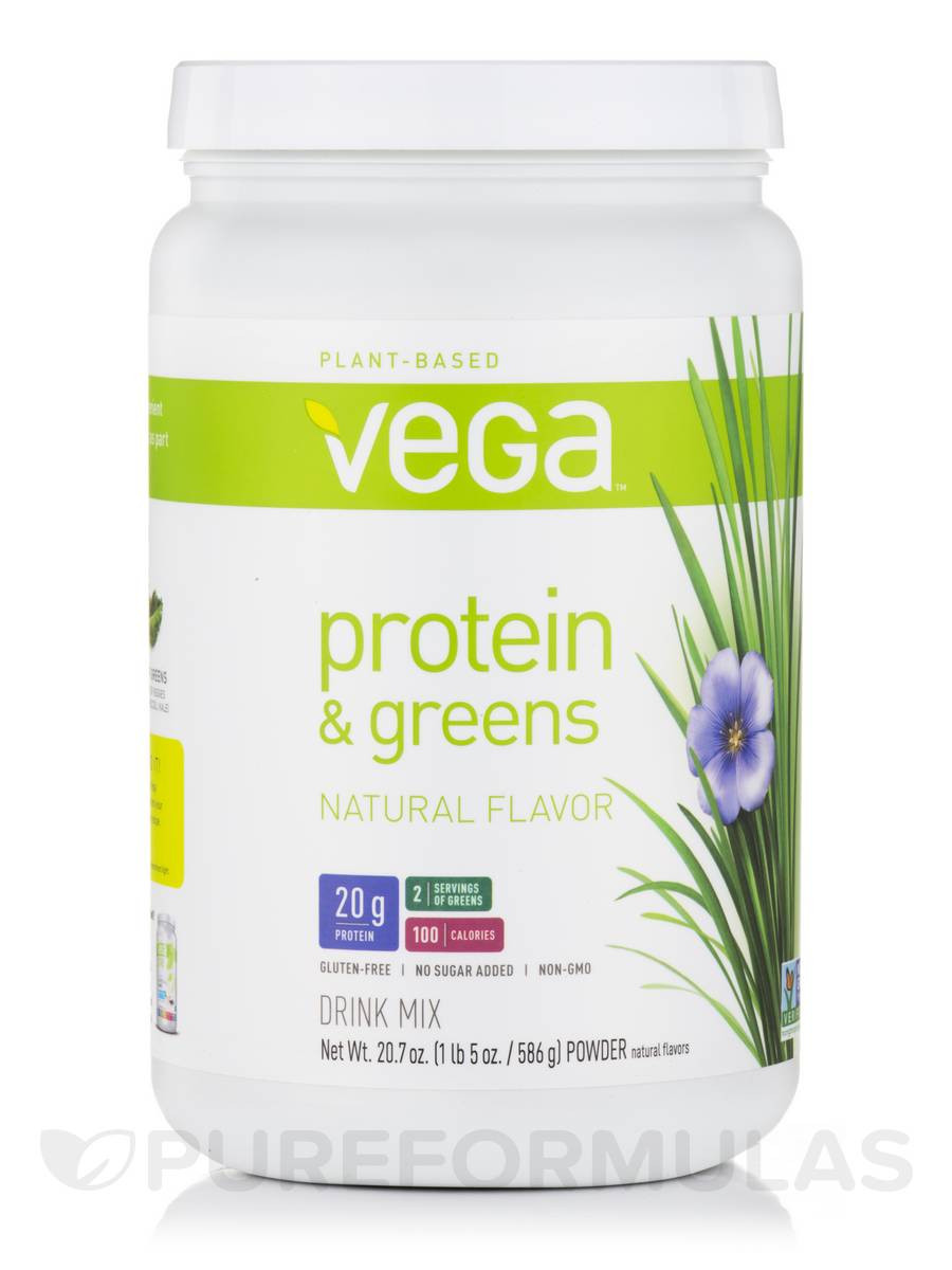 Vega Organic Protein And Greens  Protein & Greens Natural Flavor 20 7 oz 586 Grams