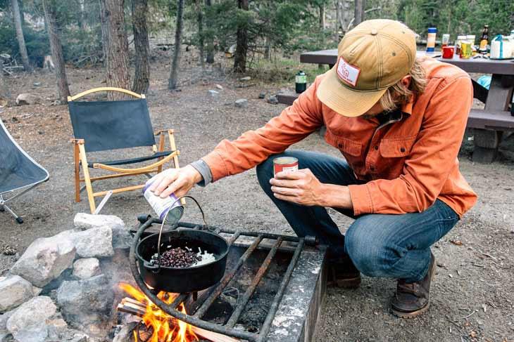Vegan Dutch Oven Camping Recipes  Dutch Oven Ve arian Chili & Cornbread