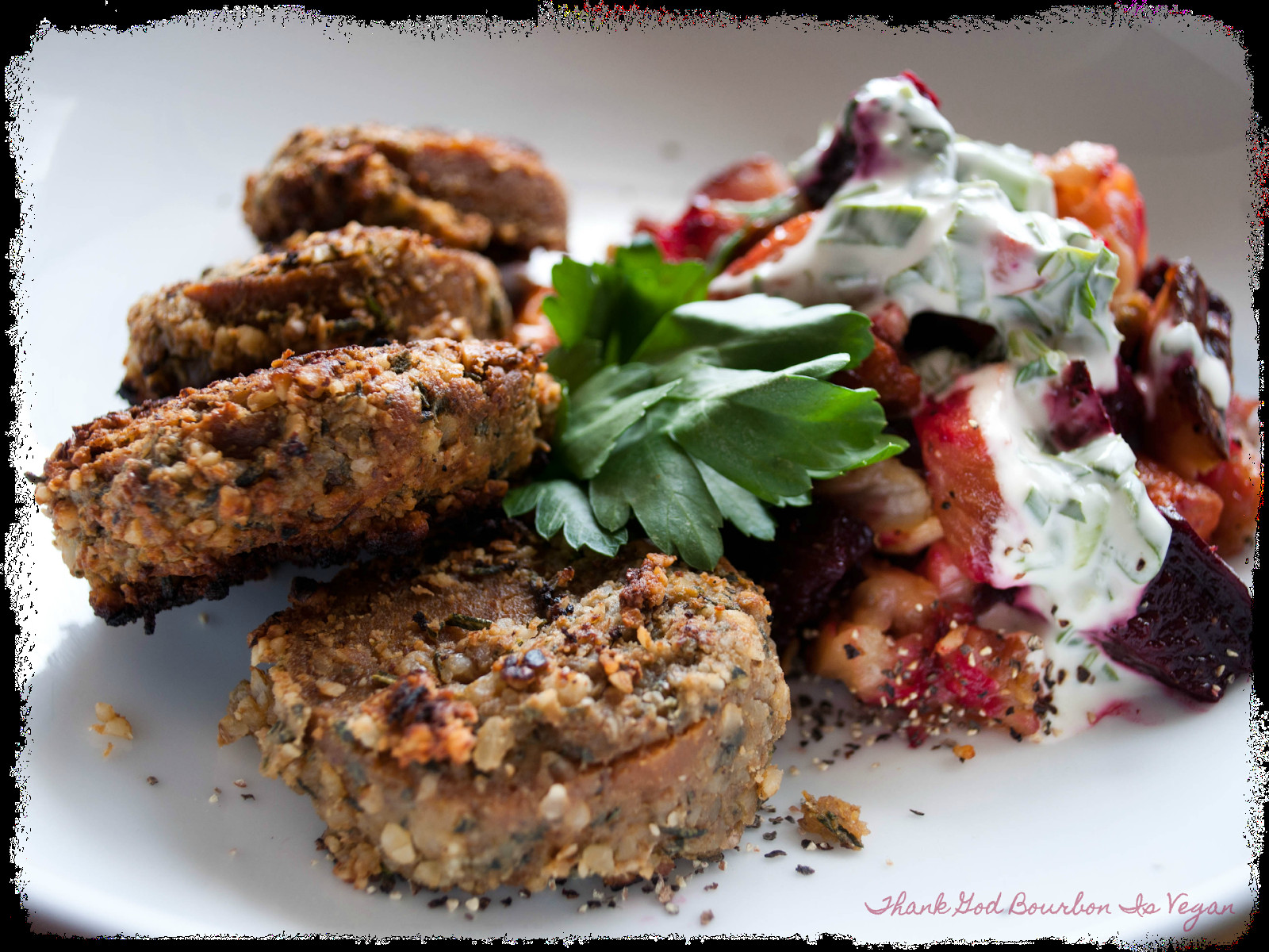 Vegan Easter Dinner Ideas  Thank God Bourbon is Vegan Walnut Herb Crusted Seitan