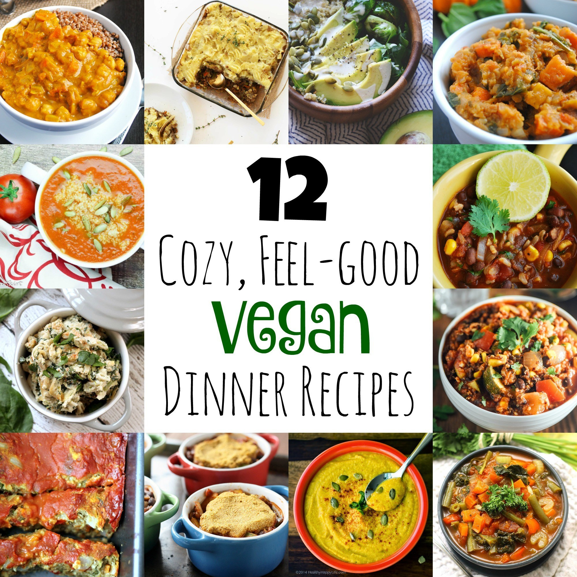 Vegan Healthy Dinner Recipes  12 Cozy Feel Good Vegan Dinner Recipes