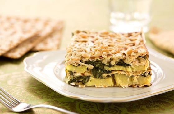 Vegan Kosher For Passover Recipes  Spinach Leek and Potato Matzo Gratin