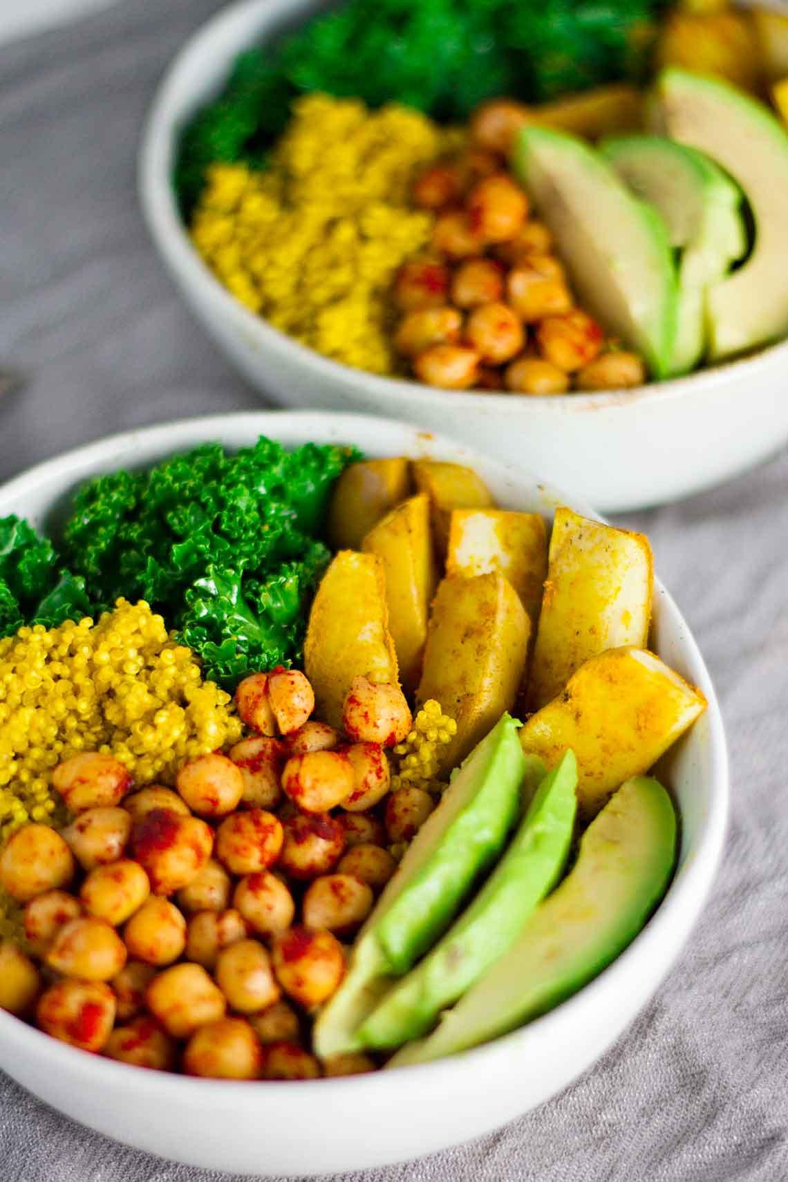 Vegan Recipes Healthy  Vegan Turmeric Quinoa Power Bowls Jar Lemons