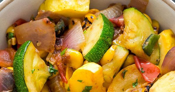 Vegan Summer Squash Recipes  Quick and easy summer squash green chile stir fry side