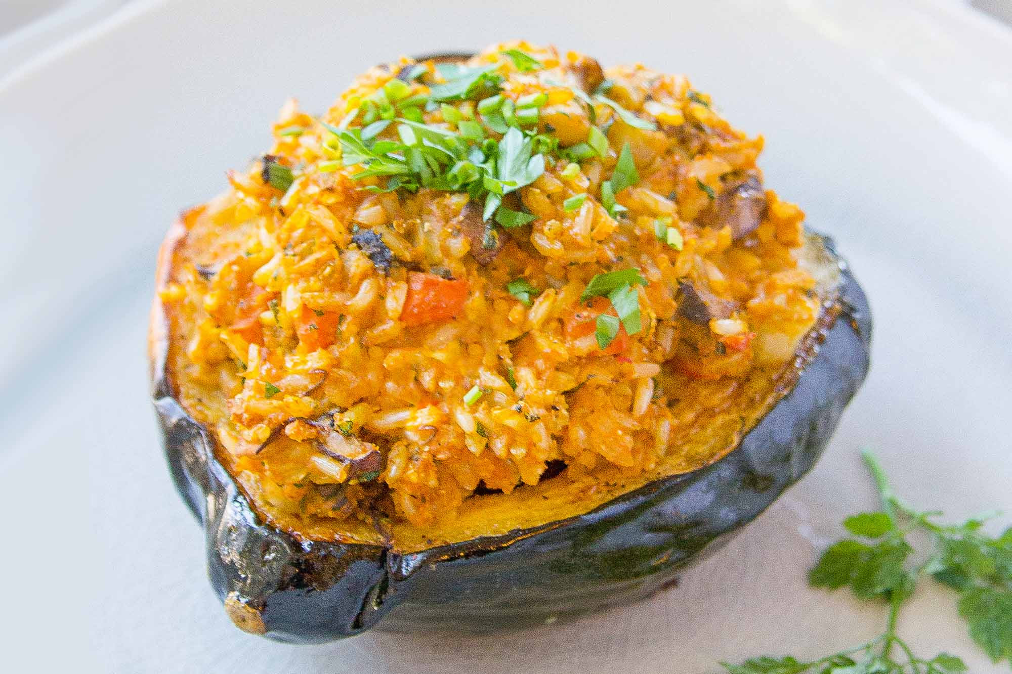 Vegan Summer Squash Recipes  Vegan Stuffed Squash with Brown Rice and Mushrooms Recipe