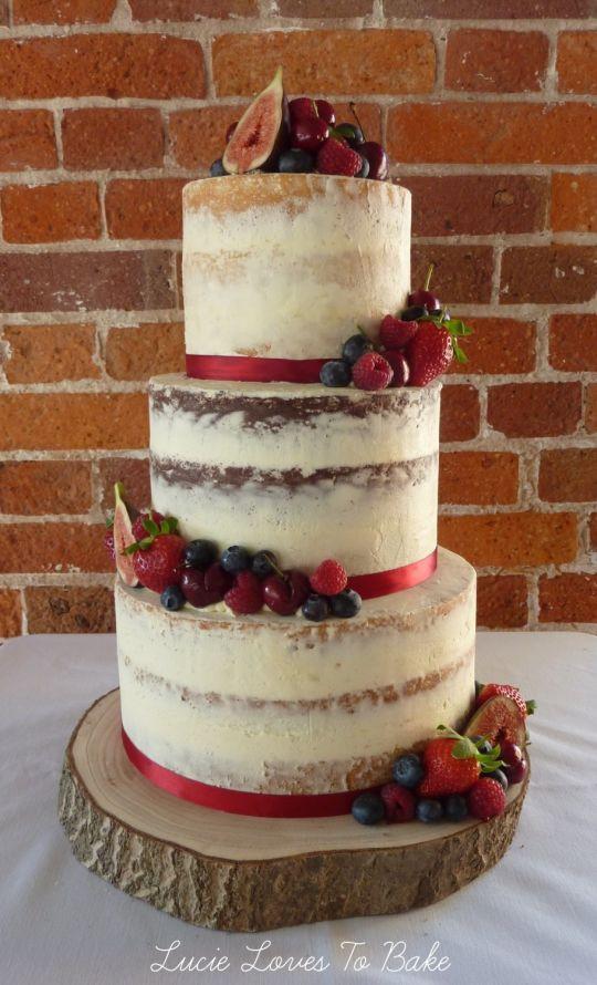 Vegan Wedding Cake Recipe  Semi Naked Vegan Wedding Cake in Dorset cake by